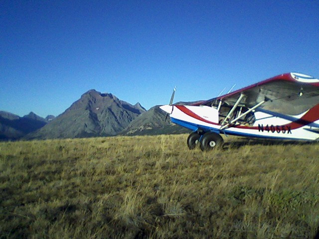 Maule airplane in the mountains